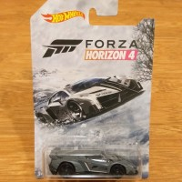 Diecast Hot Wheels Lamborghini Veneno Grey Forza Horizon 4 Limited