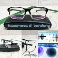 kacamata frame earlock + lensa photocromic rubah warna