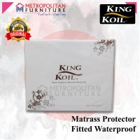 KING KOIL Mattress Protector Fitted Waterproof / Cover Matras Kasur