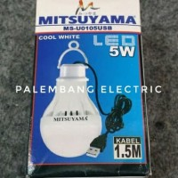 Lampu led USB emergency mitsuyama 5 watt 5watt 5w 5 w berkualitas