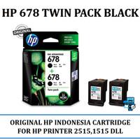 Tinta Original HP INK 678 TWIN PACK BLACK Cartridge - For 1515, 2545