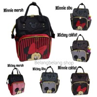 Anello anelo diaper bag tas perlengkapan bayi disney mickey minnie