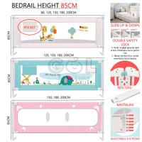 120x85CM Baby Bed Rail Bedrail Safety Guard Pengaman Pagar Kasur Bayi