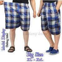 Celana Pendek Pria Kolor Big Size 7/8 Kotak Katun Salur