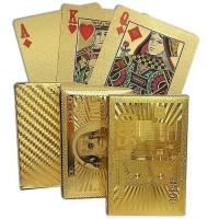 gold foil kartu remi poker water proof