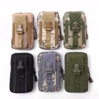 sarung hp pinggang kanvas army tactical 5 6 inch import / tas hp kecil
