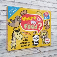 Kartu Flashcard Hewan - EduFun Where is My Food Puzzle Mainan Edukasi