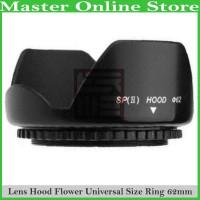 Flower Lens Hood 62mm Lensa Kamera Sony Canon Nikon 35-200mm 28-105mm
