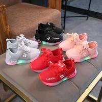 Sepatu Sneaker LED TROIS Anak Laki-laki&Perempuan Lampu Menyala sp43