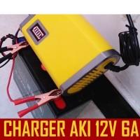 Charger Aki, Cas Aki Motor, Mobil Otomatis 5A Bisa Cas sampai Aki 80Ah