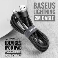 BASEUS KABEL CHARGER IOS LIGHTNING IPHONE ALL IOS 2M ORIGINAL
