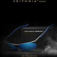 Kacamata pria Original Veithdia Seri 6589 Polarized sunglasses