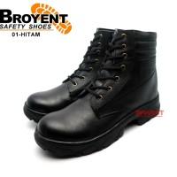 Sepatu Safety Pria Boots Tali Warna Hitam 01
