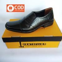 PANTOFELAR Sepatu pantofel pria bahan kulit asli warna hitam fantofel