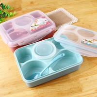 Yoyee lunch box kotak bekal makanan 5 sekat BPA free sendok wadah kuah
