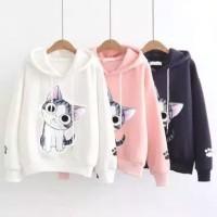 Sweater Hoodie Wanita#Sweater Hoodie Murah KIKU CAT#sweter murah#