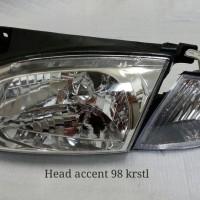 HYUNDAI ACCENT 98 KRISTAL HEADLAMP LAMPU BESAR SET perkakas mobil