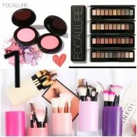 Paket Hemat Make Up Set Brush Tabung Eyeshadow Blush On