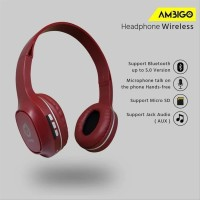 Headphone Extra Bass Bluetooth Wireless Headset Bando Ambigo