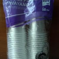 Dijual Gelas Plastik Cup Aqua 220 Ml Bening Tanpa Tutup Merk Wayang