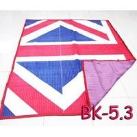 Karpet selimut BK-6 Ukuran 150 x 200 / BED COVER GARIS-GARIS .