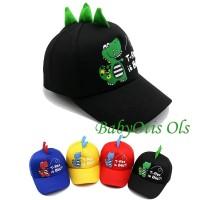 Dinosaur Kids Baseball Hat Topi Anak Casual Dinosaurus