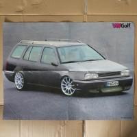 Poster VW Golf besar 4halaman bolak balik sisipan majalah import lawas