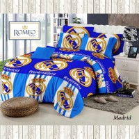 Sprei Bedcover Motif Bola Madrid (Tersedia Ukuran 120, 160, 180, 200)
