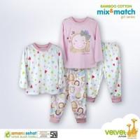 Velvet Junior Setelan Piyama Mix Match Baju Tidur Anak Bayi 4in1 Girl