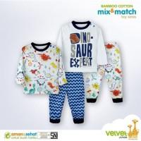 Velvet Junior Setelan Piyama Mix & Match Baju Tidur Anak Bayi 4in1 Boy