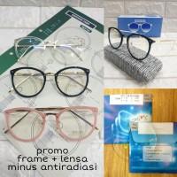frame kacamata wanita gratis lensa minus anti radiasi