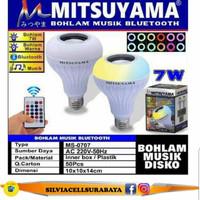 Bohlam Speaker Musik Bluetooth 2 in 1 - Lampu Speaker LED MITSUYAMA .