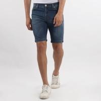 Edwin Celana Jeans Pendek MIAMI 01 Slim Fit Pria Pendek Biru Tua