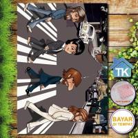 Hiasan Dinding Cartoon Beatles / Dekorasi Rumah / Hiasan Kamar Cafe