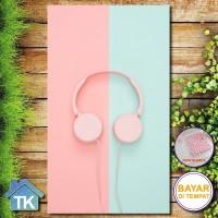 Hiasan Dinding Headphone Pink / Dekorasi Rumah / Hiasan Kamar Cafe