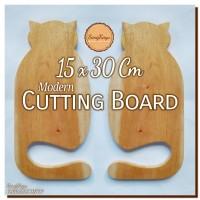 Modern Cutting Board 15 x 30 Cm Talenan kayu modern unik Rustic cat