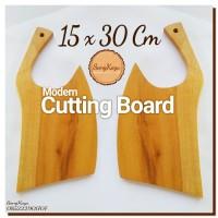 Modern Cutting Board 15 x 30 Cm Talenan kayu modern unik cutting board