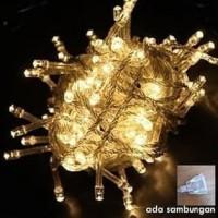 Lampu Tumblr Led/Lampu Natal Hias/Lampu Dekorasi Cafe Warm White 10M