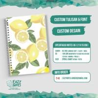 Custom Notebook A5 isi 100 lbr + Mika doft