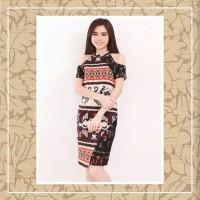 Dress Batik Sabrina Shoulder Orange
