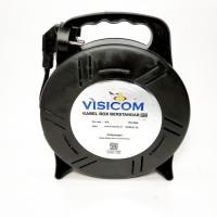 VISICOM Kabel Roll 4 Lubang 15 Meter SNI Ada Oversteker Kuningan Lampu