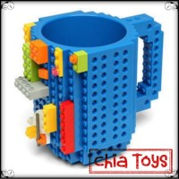 Mug Gelas Cangkir Anak Mainan LEGO Unik Lucu (Warna Hitam / Biru)