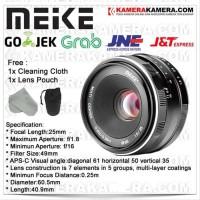 Lensa Meike 25mm F1.8 Lens for Fuji X Mount Mirrorless Camera Tebaik