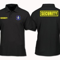 Polo Shirt / Kaos Polo / Baju Kerah Security Size S - Xxl