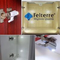 Lampu LED engsel sendok, lemari, lampu otomatis, LED engsel | FELTERRE