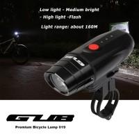 Lampu Sepeda GUB 019 Headlight Cycling Bicycle USB Rechargeable
