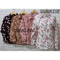 Atasan Wanita Baju Blouse Kemeja Jumbo,Motif Sunrise Flower Premium