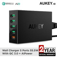 Aukey Charger 5 Port USB Quick Charge 3.0 Fast Charging PA-T15