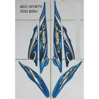 Sticker Striping Lis Motor Yamaha Mio Sporty 2010 Biru