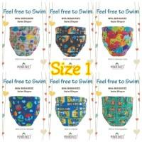 Popok Renang Bayi Size1 (7-11kg) | Clodi Swim Diaper Minikinizz
